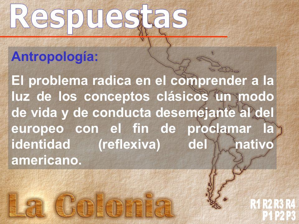 Respuestas R1 R2 R3 R4 P1 P2 P3 Antropología: