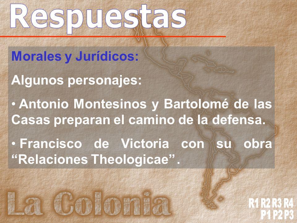 Respuestas R1 R2 R3 R4 P1 P2 P3 Morales y Jurídicos: