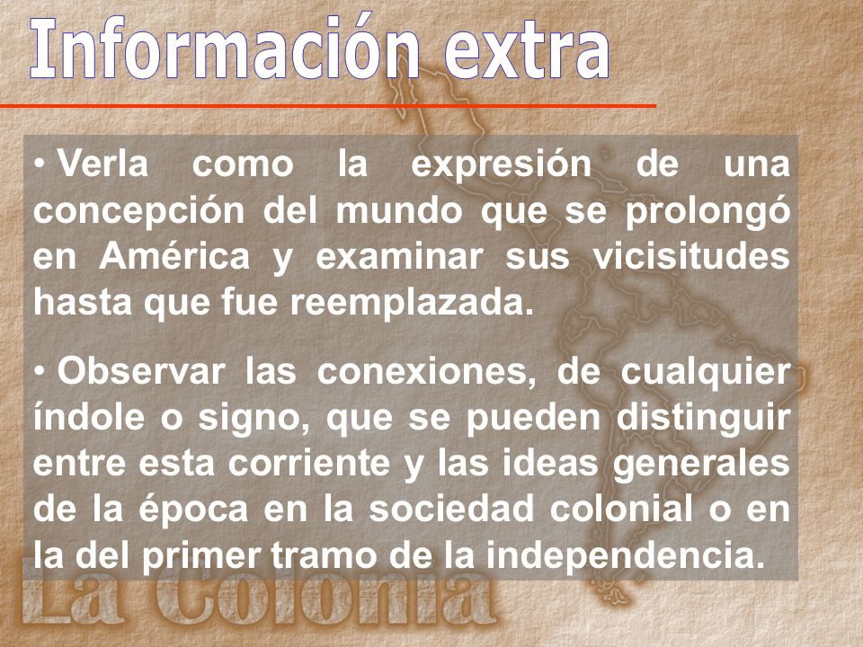 Información extra