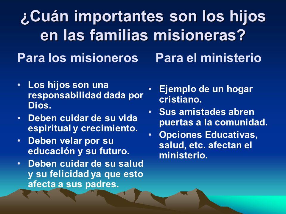 ¿Cuán importantes son los hijos en las familias misioneras
