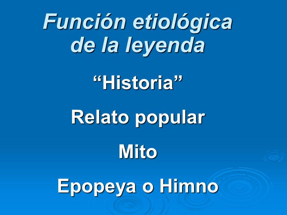 Función etiológica de la leyenda