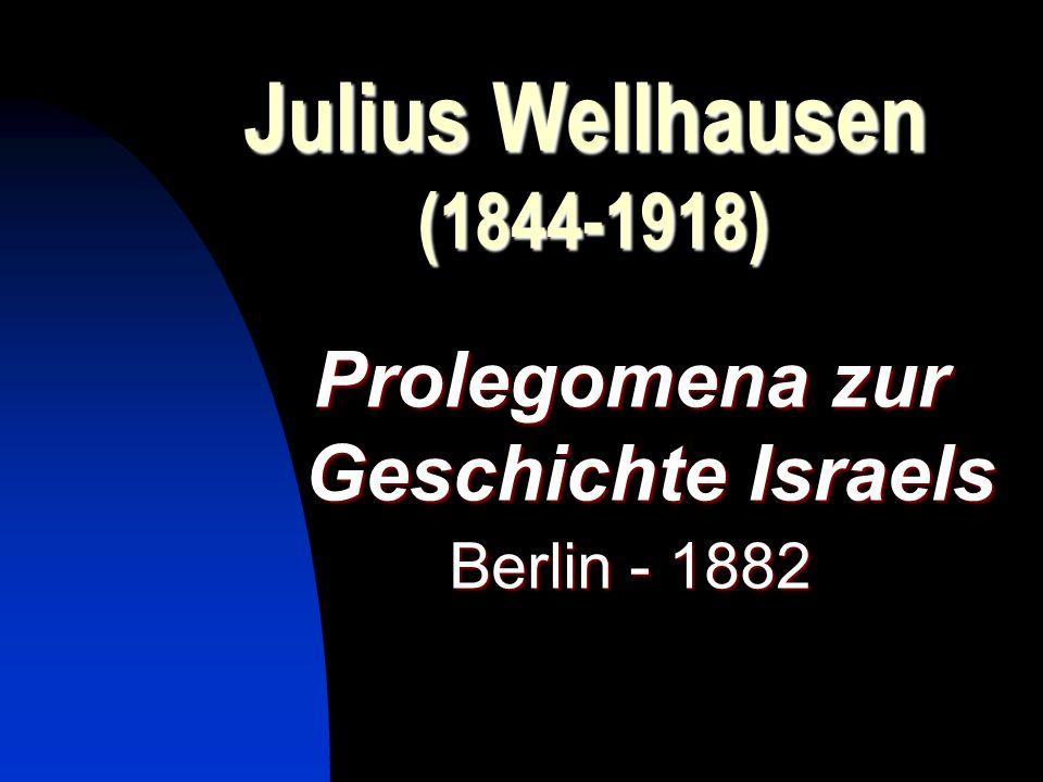 Prolegomena zur Geschichte Israels
