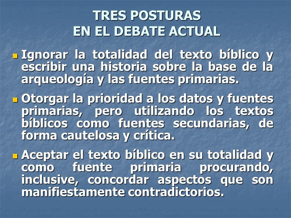 TRES POSTURAS EN EL DEBATE ACTUAL