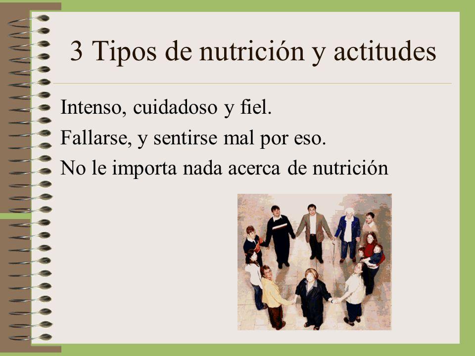 3 Tipos de nutrición y actitudes
