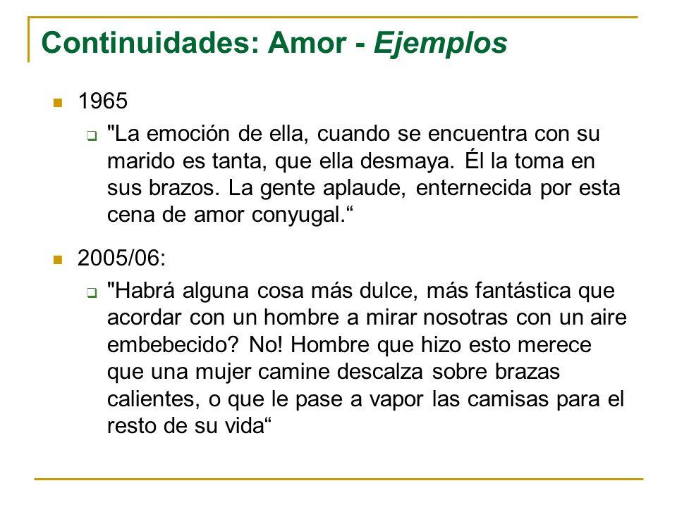 Continuidades: Amor - Ejemplos