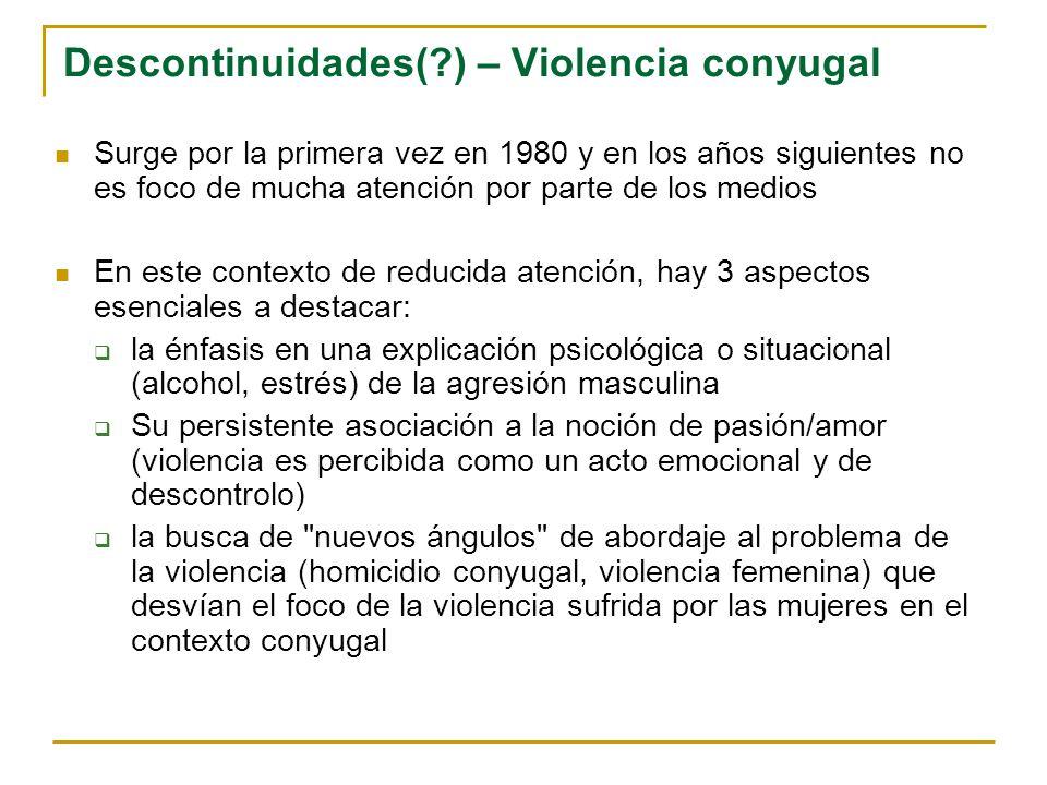 Descontinuidades( ) – Violencia conyugal
