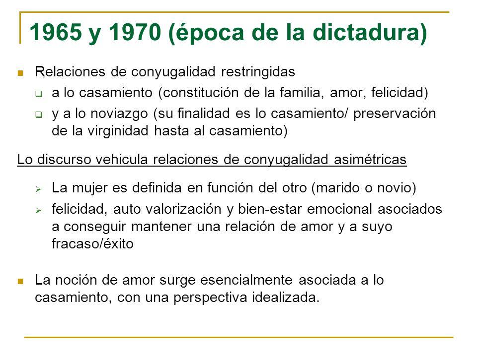1965 y 1970 (época de la dictadura)