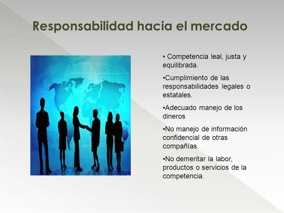 Responsabilidad hacia el mercado