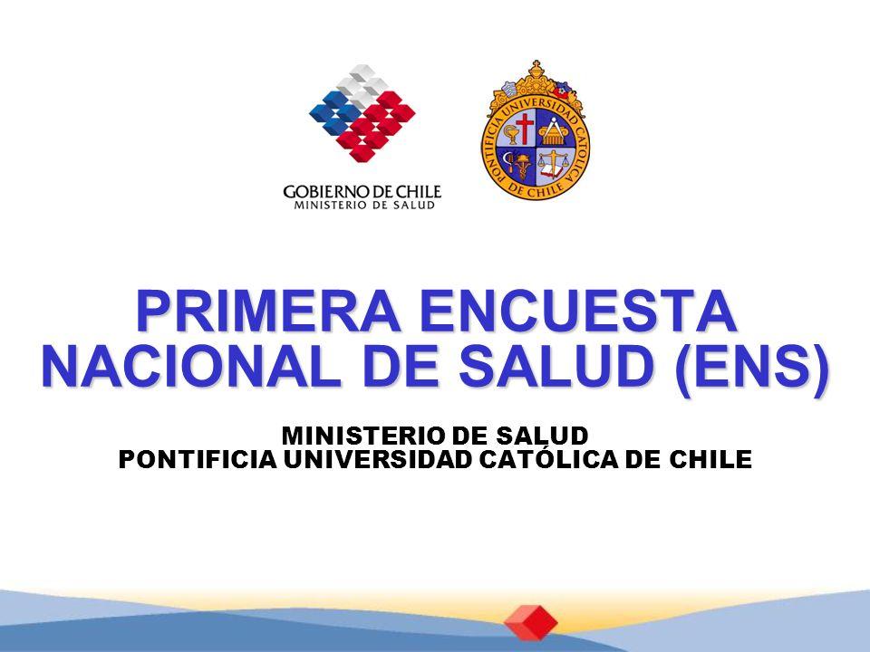 PRIMERA ENCUESTA NACIONAL DE SALUD (ENS)