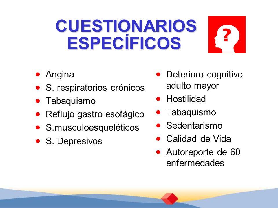 CUESTIONARIOS ESPECÍFICOS