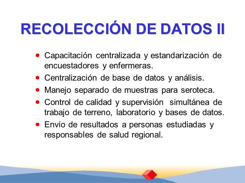 RECOLECCIÓN DE DATOS II