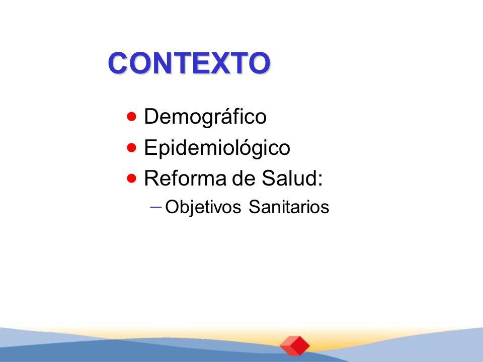 CONTEXTO Demográfico Epidemiológico Reforma de Salud: