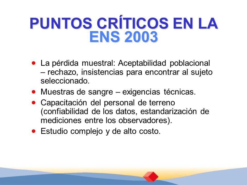 PUNTOS CRÍTICOS EN LA ENS 2003