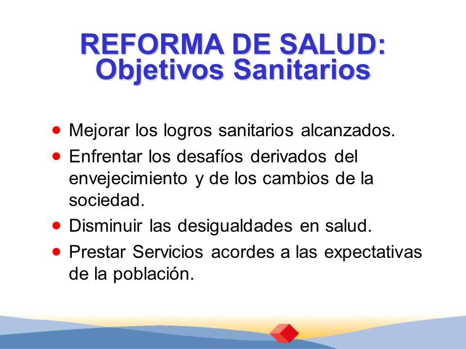REFORMA DE SALUD: Objetivos Sanitarios