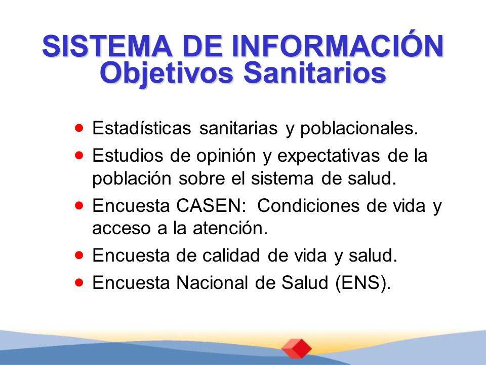 SISTEMA DE INFORMACIÓN Objetivos Sanitarios