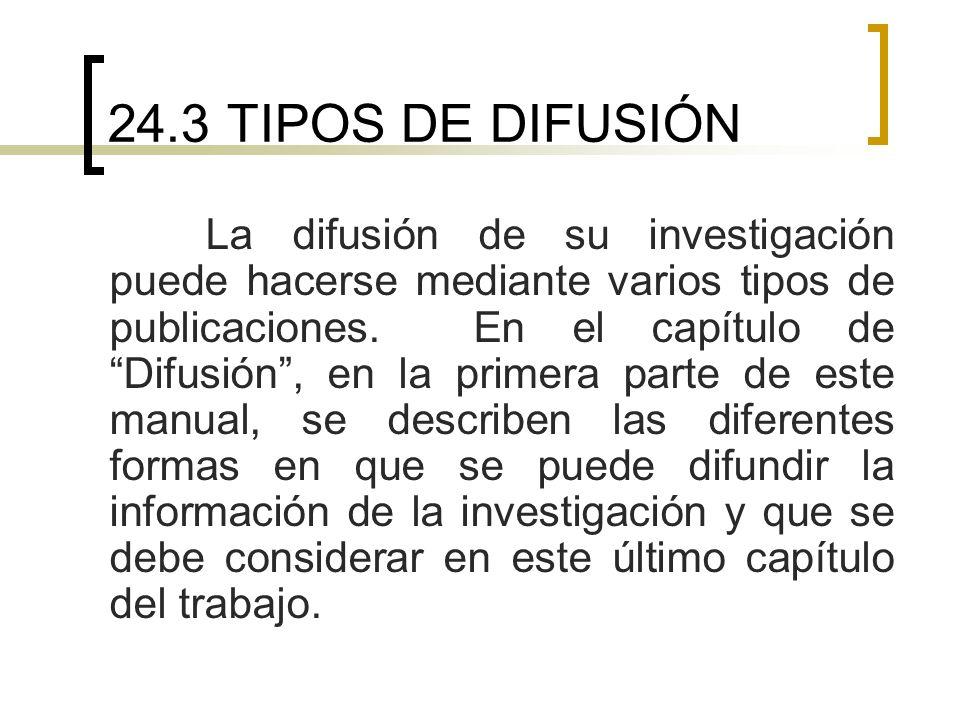 24.3 TIPOS DE DIFUSIÓN