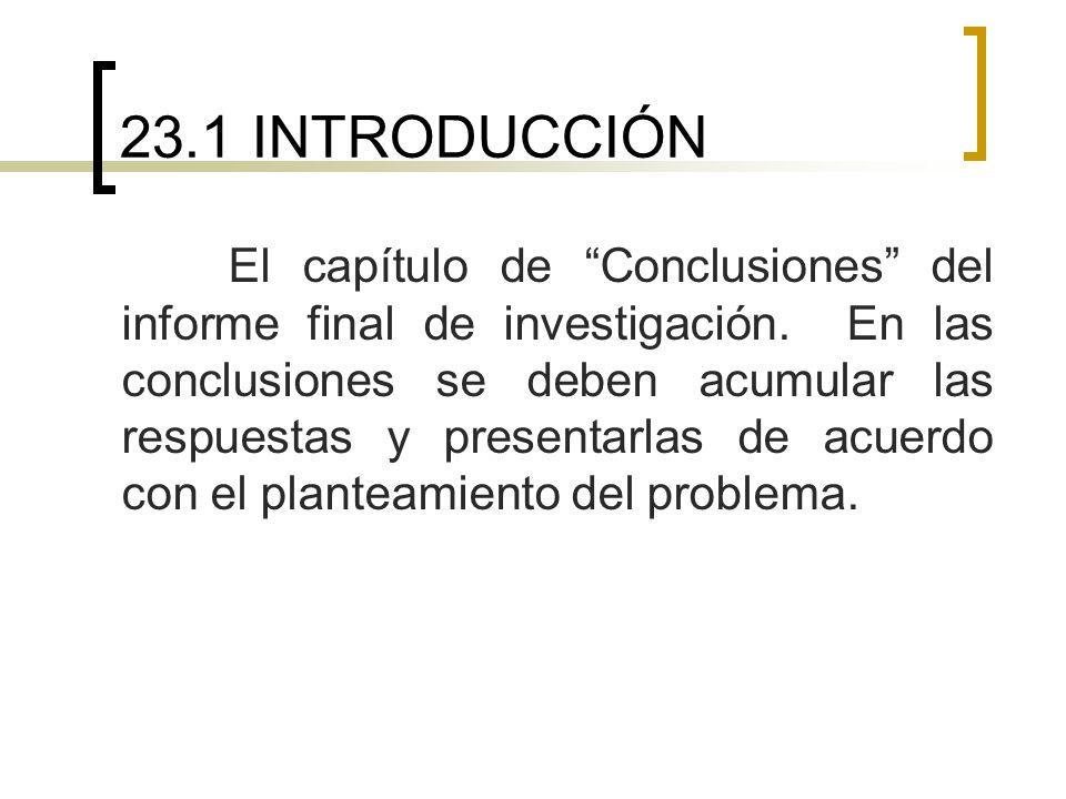 23.1 INTRODUCCIÓN