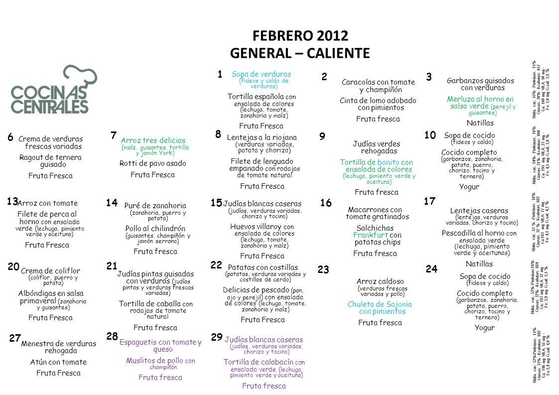 FEBRERO 2012 GENERAL – CALIENTE