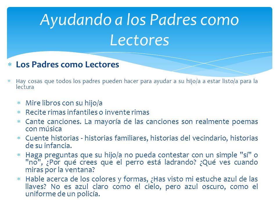 Ayudando a los Padres como Lectores