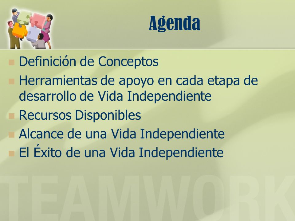 Agenda Definición de Conceptos