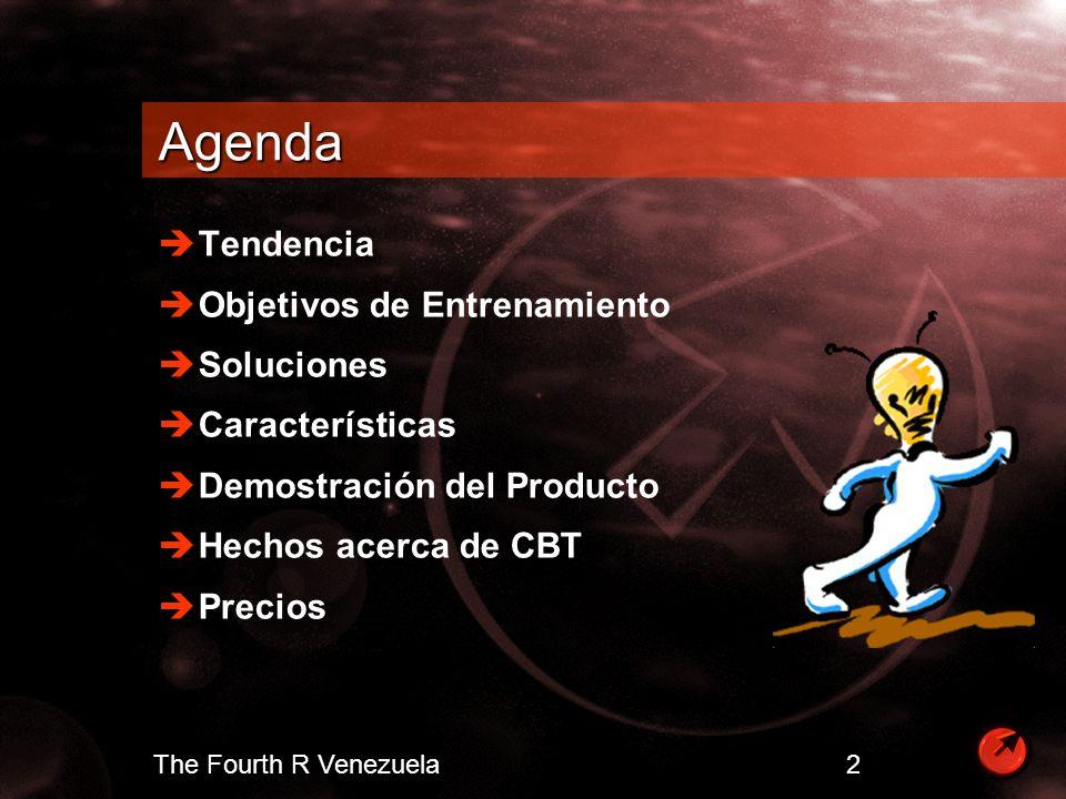 Agenda Tendencia Objetivos de Entrenamiento Soluciones Características