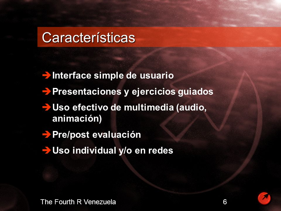 Características Interface simple de usuario