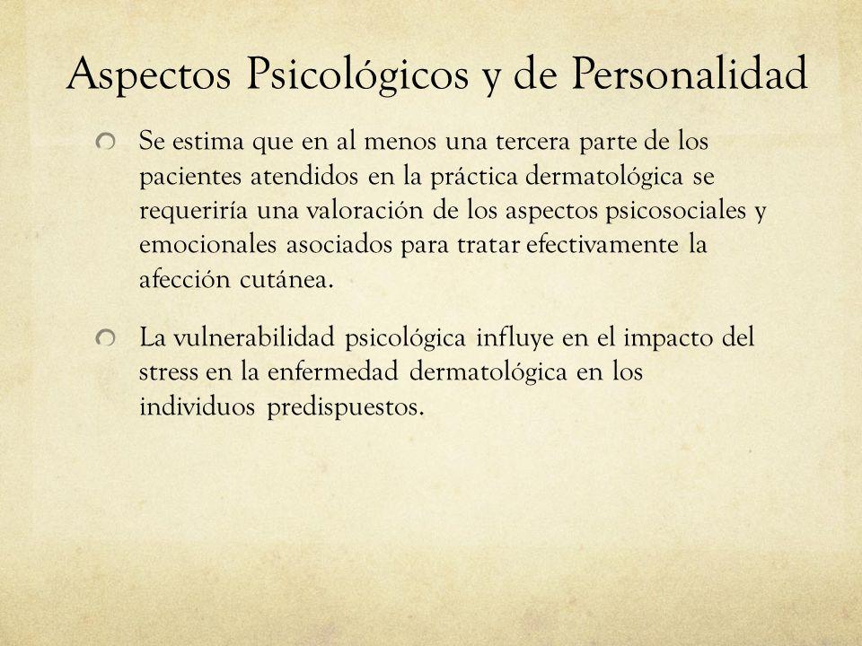Aspectos Psicológicos y de Personalidad