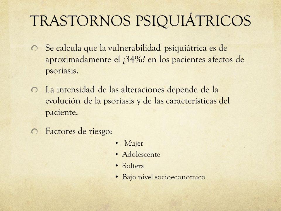TRASTORNOS PSIQUIÁTRICOS