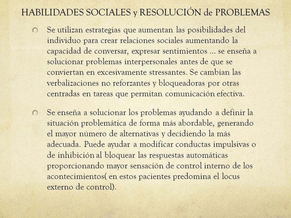 HABILIDADES SOCIALES y RESOLUCIÓN de PROBLEMAS
