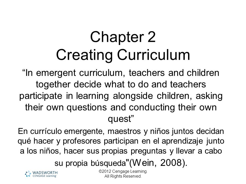 Chapter 2 Creating Curriculum
