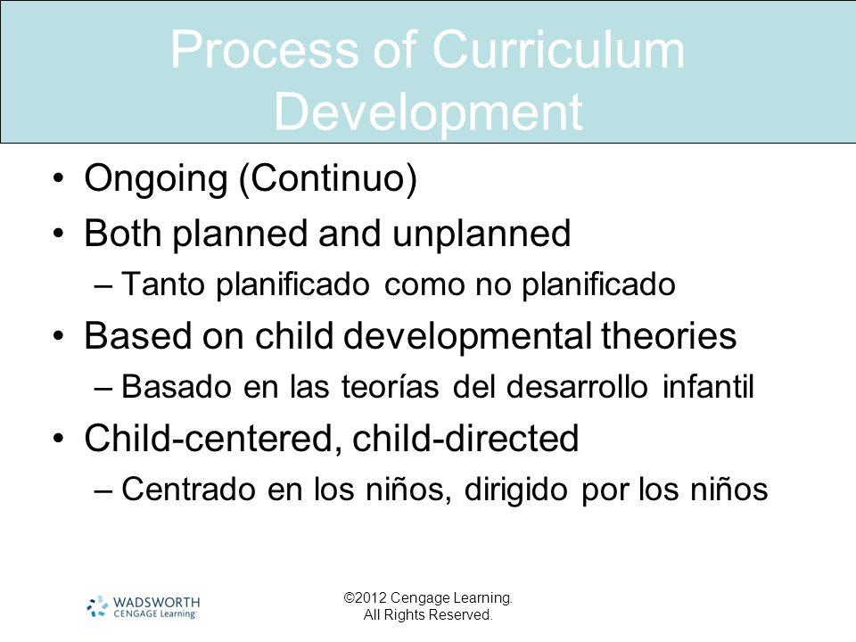 Process of Curriculum Development