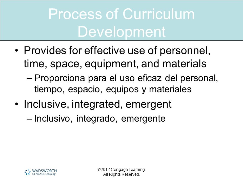 Process of Curriculum Development