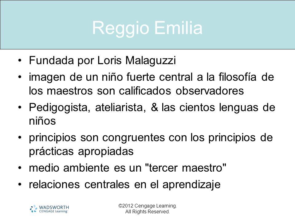 Reggio Emilia Fundada por Loris Malaguzzi