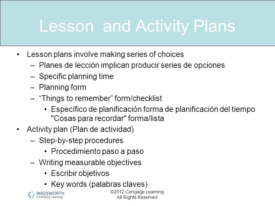 Lesson and Activity Plans