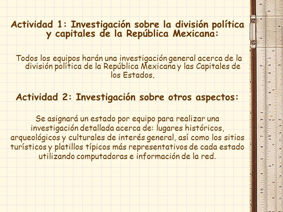 Actividad 2: Investigación sobre otros aspectos: