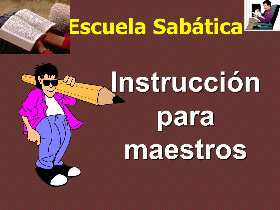 Instrucción para maestros