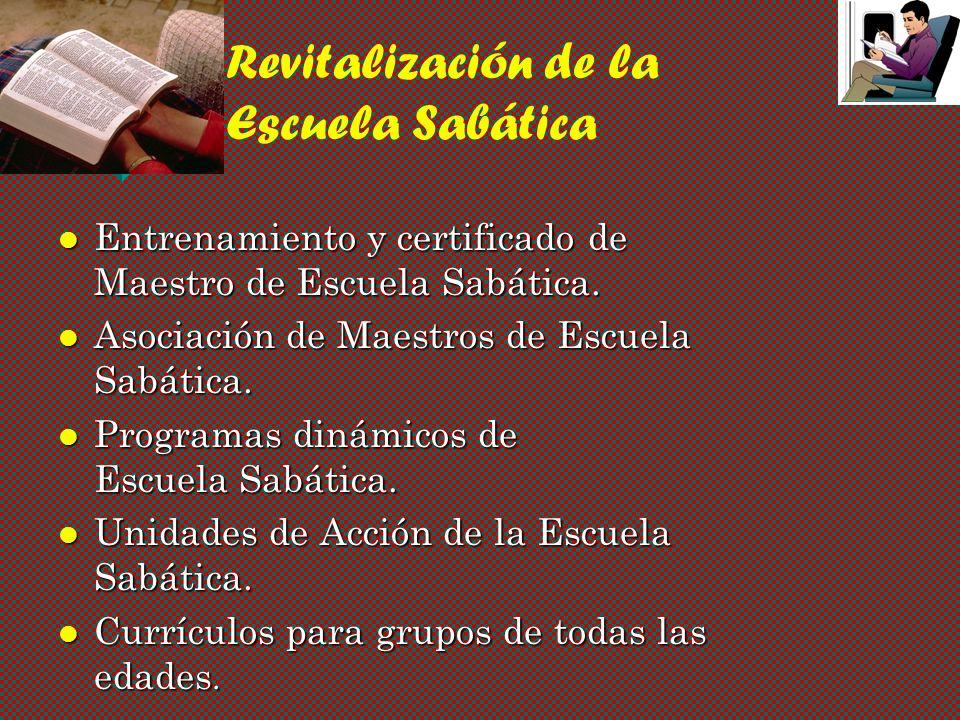 Revitalización de la Escuela Sabática
