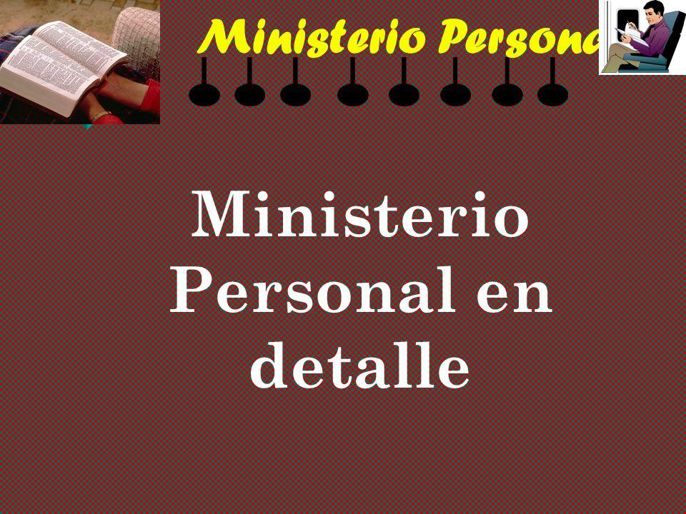 Ministerio Personal en detalle