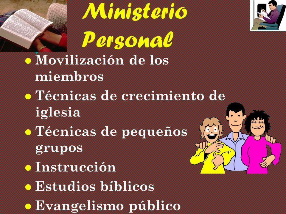 Ministerio Personal Movilización de los miembros