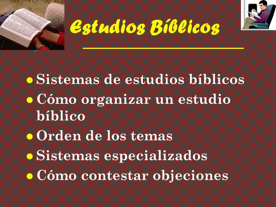 Estudios Bíblicos Sistemas de estudios bíblicos