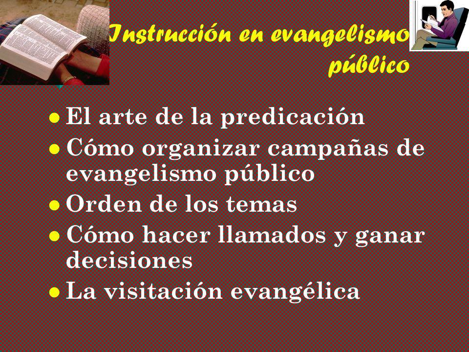Instrucción en evangelismo público