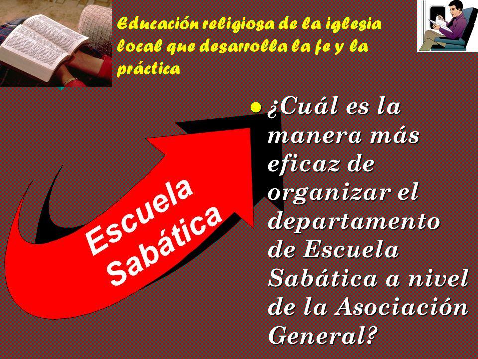 Educación religiosa de la iglesia local que desarrolla la fe y la práctica
