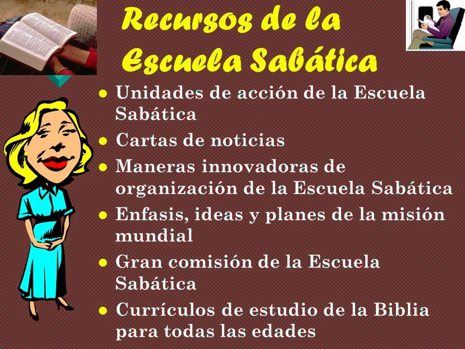 Recursos de la Escuela Sabática