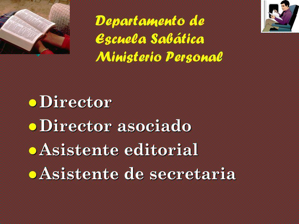 Departamento de Escuela Sabática Ministerio Personal