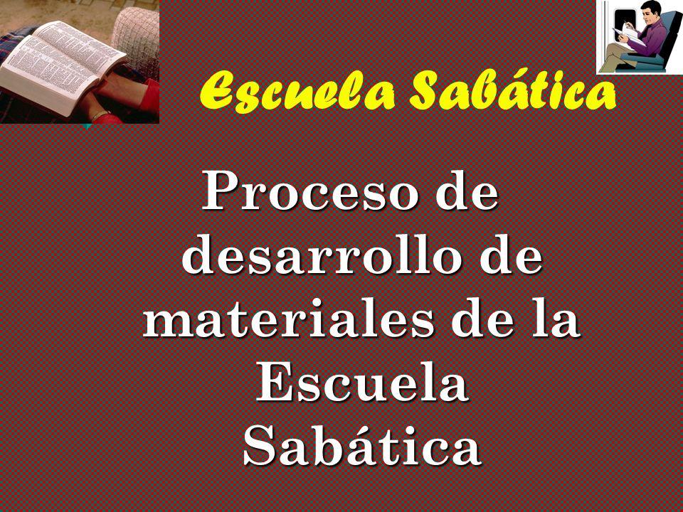 Proceso de desarrollo de materiales de la Escuela Sabática