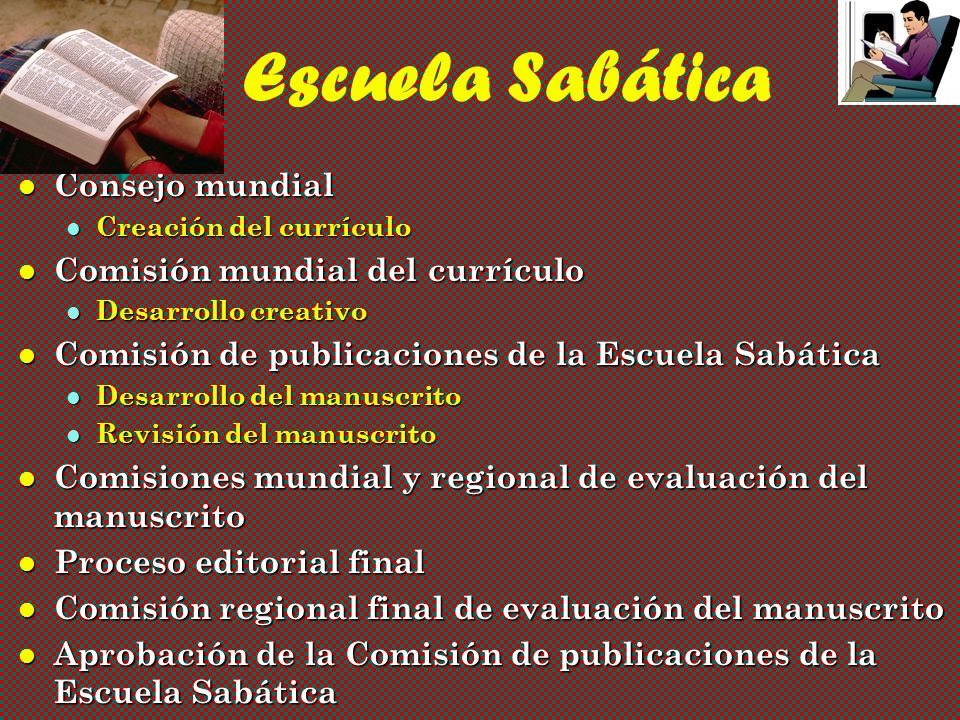 Escuela Sabática Consejo mundial Comisión mundial del currículo