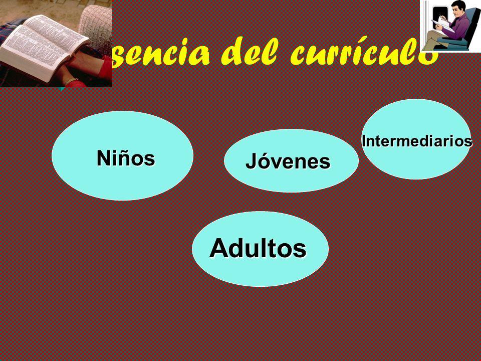 Esencia del currículo Intermediarios Niños Jóvenes Adultos