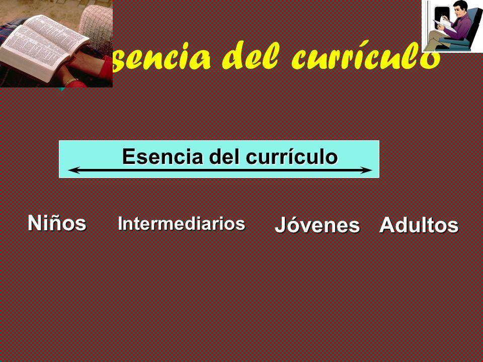 Esencia del currículo Esencia del currículo Niños Jóvenes Adultos