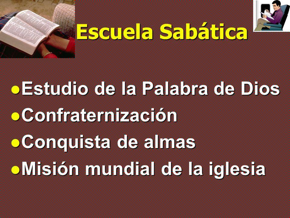 Escuela Sabática Estudio de la Palabra de Dios Confraternización