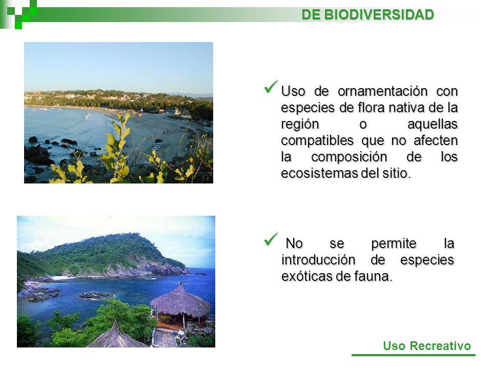 No se permite la introducción de especies exóticas de fauna.